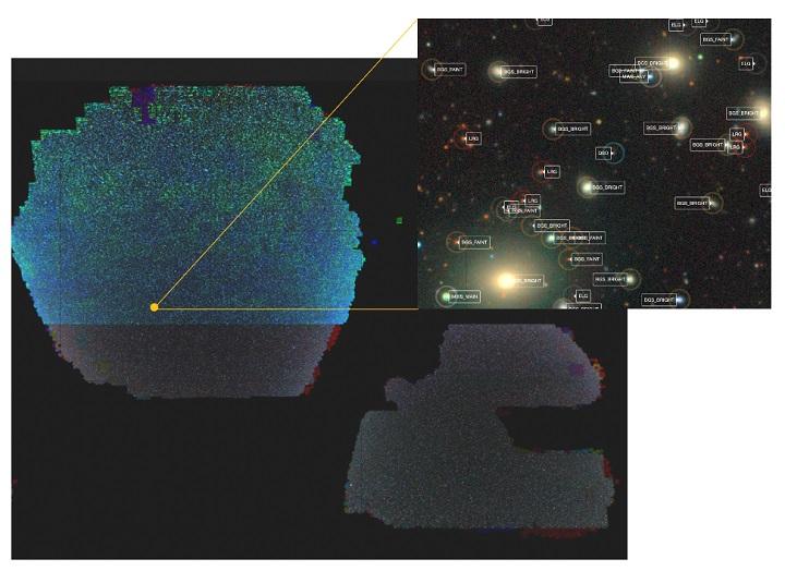 中外科学家联合发布巨幅宇宙二维天图 为新一代宇宙学红移巡天铺平道路