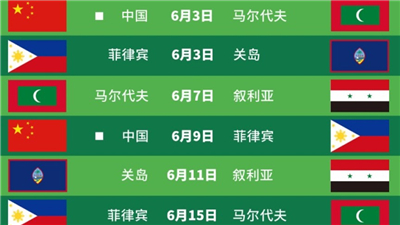 世预赛亚洲区40强中国亚洲杯预选赛第二轮剩余比赛的日期确定