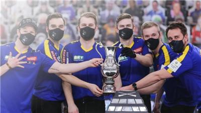 男子冰壶世锦赛瑞典队卫冕成功 连续第三次夺得世锦赛冠军