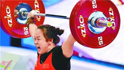 举重亚锦赛女子76公斤级张旺丽一枝独秀 轻松夺得总成绩金牌