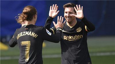 西甲:巴塞罗那主场1:2不敌格拉纳达 错失登顶联赛积分榜的机会