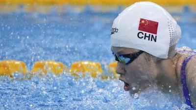 余依婷以2分09秒88的成绩刷新女子200米混合泳世界青年纪录