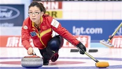 女子冰壶世锦赛 中国队以四胜四负的战绩排在第六位