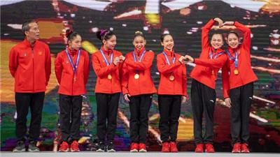 广东女团以总成绩222.428分再次卫冕2021年全国体操锦标赛冠军
