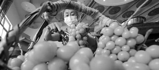 江苏省句容市丁庄村的葡萄进入收获季