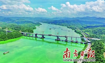 广连高速北江特大桥合龙 将进一步减少后续施工压力